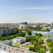 Aerial view on city hospital. Tyumen. Russia — Stock Photo #74566101