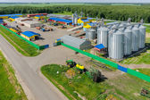 Machine yard of agricultural firm. Tyumen. Russia — Stock Photo