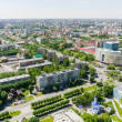 Aerial view on city hospital. Tyumen. Russia — Stock Photo #76496403