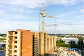 View on construction site in Tyumen — Stock Photo