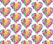 颜色的心 — 图库矢量图片