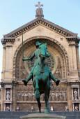 Old Monument of Jeanne d'Arc (Joan of Arc) — Stock Photo