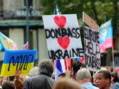 Protest manifestation against war in Ukraine — Stock Photo