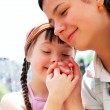 Happy family moments - Mother and child have a fun. — Stock Photo #55600567