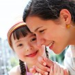 Happy family moments - Mother and child have a fun. — Stock Photo #56095579