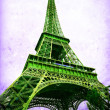 Eiffel Tower - retro postcard styled. — Stock Photo #64649863