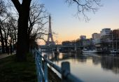 View on Eiffel Tower in the morning, Paris, France — Stock Photo