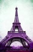 Eiffel Tower - retro postcard styled. — Stock Photo
