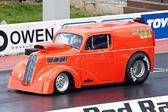 橙色的赛车 — 图库照片