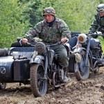 German army motorcyclists — Stock Photo #55171357