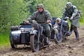 German army motorcyclists — Stock Photo