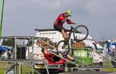 BMX stunt rider — Stock Photo
