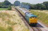 Vintage diesel train — Stock Photo