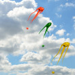 Three space invader kites — Stock Photo #52728519