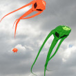 Pair of space invader kites — Stock Photo #52730183