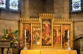 Large religious panel in cathedral — ストック写真
