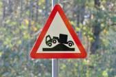 Lorry hump warning sign — Stock Photo