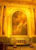 Painting inside greenwich chapel — Stock Photo