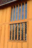 Window on orange half timbered house — Stock Photo