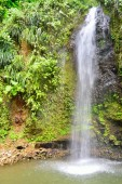 Tropical waterfall in portrait aspect — Stock Photo