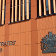 Front of modern magistrates court — Stock Photo #67434985