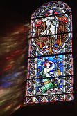 Light Shining through stained glass window — Stockfoto