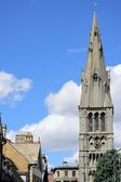 Church spire in stamford Lincolnshire — Stock Photo