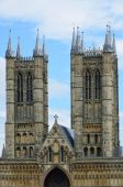 Towers of Lincoln Cathedral — Stock Photo