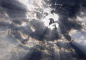 The face of Christ in the sky — Stock Photo
