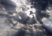 空にキリストの顔 — ストック写真