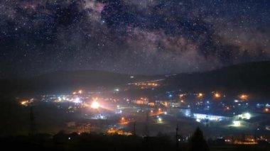 Night town timelapse — Stock Video