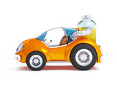 Orange soda car — Stock Photo