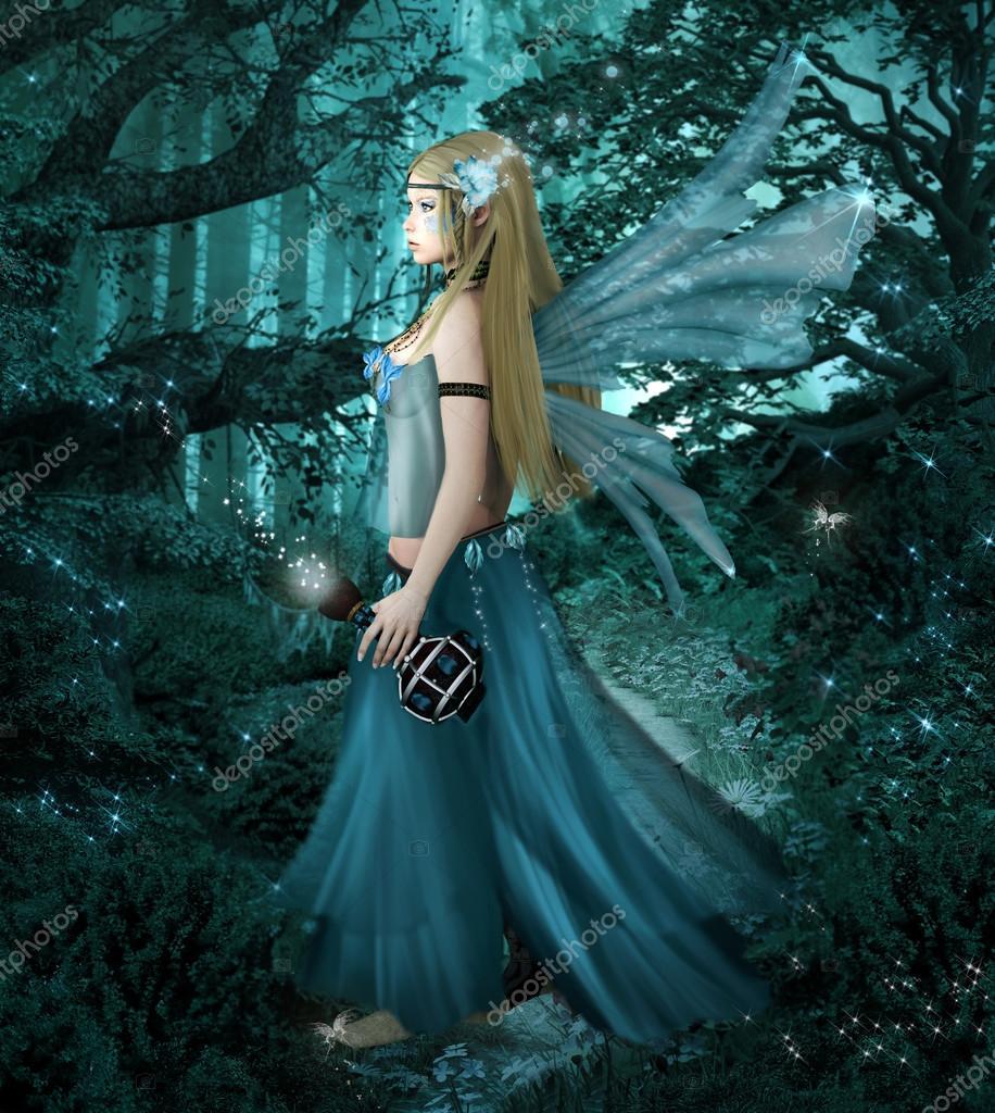 Фотообои Фея с волшебной бутылки