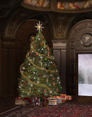 Christmas time in an elegant old room — Foto Stock