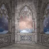 Elven palace background — Stock Photo