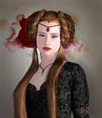 Middeleeuwse dame — Stockfoto