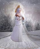 Angel of snow — Stock Photo