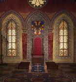 Medieval throne — Stock Photo