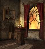 Mysterious room of potions — Stock Photo