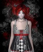 Dangerous girl in dress — Stock Photo
