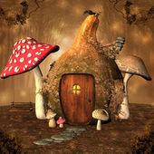 Autumnal pumpkin house — Stock Photo