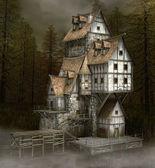神秘的な古い家 — ストック写真