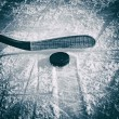 bastone da hockey e puck — Foto Stock #57143879