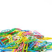 Many colorful Paperclips — Fotografia Stock