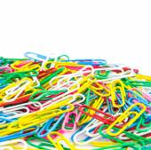 Many colorful Paperclips — Stock Photo
