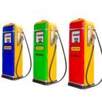 Gasoline fuel pump dispensers — Stock Photo #57166009