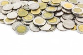 Money coin isolated on white background — Stock Photo
