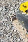 Yellow vibratory plate — Stock fotografie