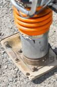 Compactor vibrating base plate — Stockfoto