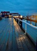 Пристань в Stivston — Стоковое фото